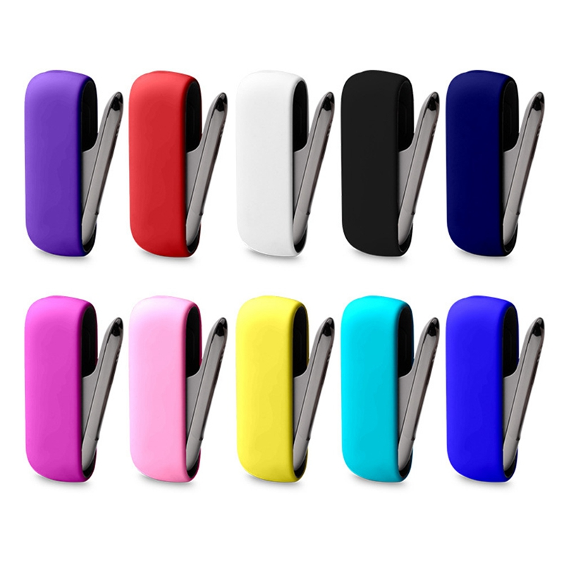New Style Colorful Silicone Case For IQOS 3.0 E Cigarette Protective Cover Carrying Case(China)