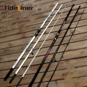 4.2m quality surf fishing rod Rock casting spinning carbon fiber rod long shot 3 sections sea pole Lure Weight 80-200g