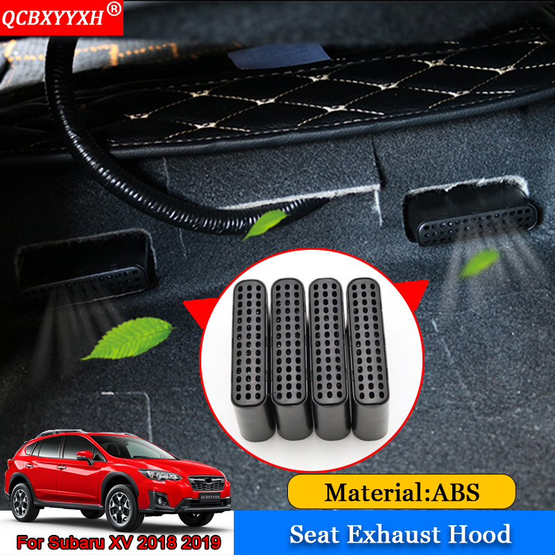 QCBXYYXH Car-styling 4pcs/set ABS Car Front Seat Exhaust Hood Auto Interior Decoration Auto Accessories For Subaru XV 2018 2019 цена