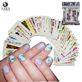 48pcs Colorful Mixed Flower Water Transfer Stickers DIY Nail Art Decorations Manicure Wraps Foil Decals Nail Tools STZ352-391