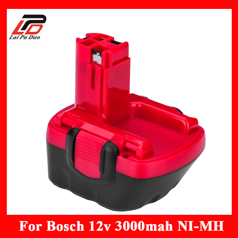 12v 3.0A Replacement For Bosch tool battery 2607335709 2607335249 2607335261 2607335262 GSR12-1 GSB12VE-2 PSR1200 Power Drill for bosch gsr 12v gli 12v ahs gsb gsr psr 12 12ve battery 1 5ah ni cd bat043 bat045 bat046 bat049 bat120 bat139 26073 35555