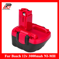 Ni MH 12v 3Ah Replacement For Bosch Tool Battery 2607335709 2607335249 2607335261 2607335262 2607335273 GSR12 1GSB12VE