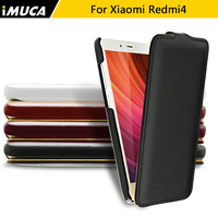 IMUCA Brand Luxury Phone Cases For Xiaomi Redmi 4 Leather Pu Vertical Flip Cover For Xiaomi