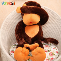 YunNasi Giant Monkey Plush Toys 110cm Huge Orangutan Pillow Birthday Gifts Girls Kids Toys Soft Gorilla Stuffed Animal Gibbon