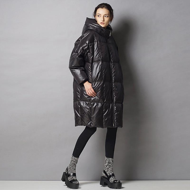 Noir Outwears Lâche Duvet Canard Blanc Manteau Femmes Automne Qualité D'hiver Veste bleu Taille Ao352 Grande Hiver Épais Chaud 2017 Haute Casual De WRZ87pxxn