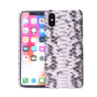 iphone 7 plus case x xr xs 8 plus phone bag case python skin Leather case phone iphone Half wrapped case