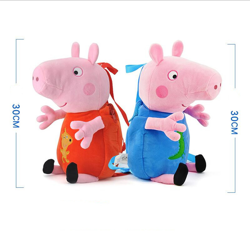 0569814dbdc6c Peppa Pig George pepa Pig Pluszowe zabawki Plecak tornister Dzieci ...