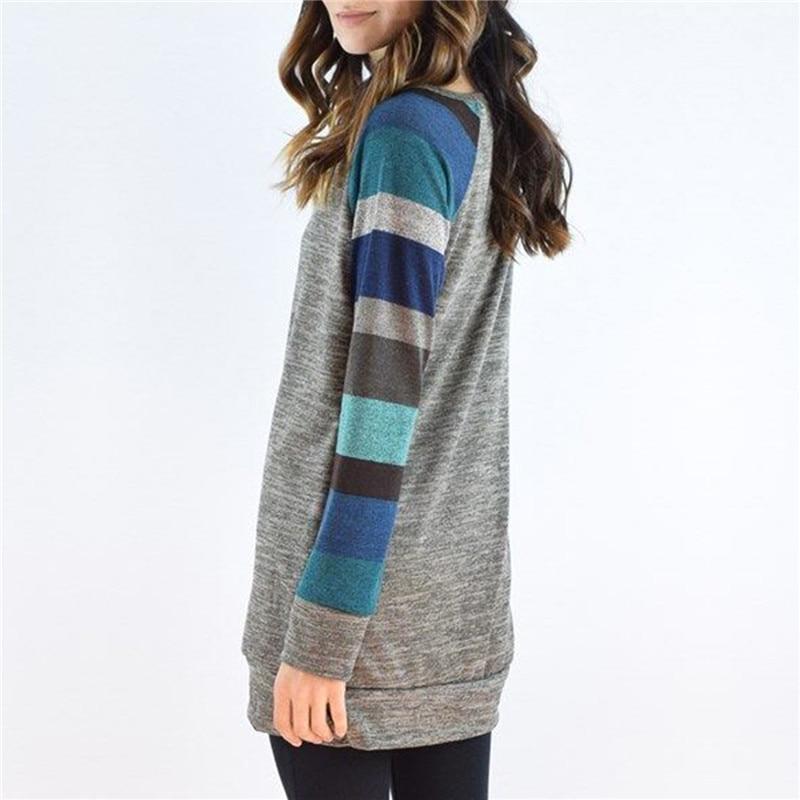 2017-Autumn-Winter-Tee-Shirt-Women-Long-Sleeve-O-Neck-Striped-Patchwrork-T-Shirt-Casual