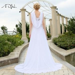Image 2 - Adln 비치 웨딩 드레스 V 넥 쉬폰 드레스 웨딩 화이트/아이보리 플러스 크기 신부 가운