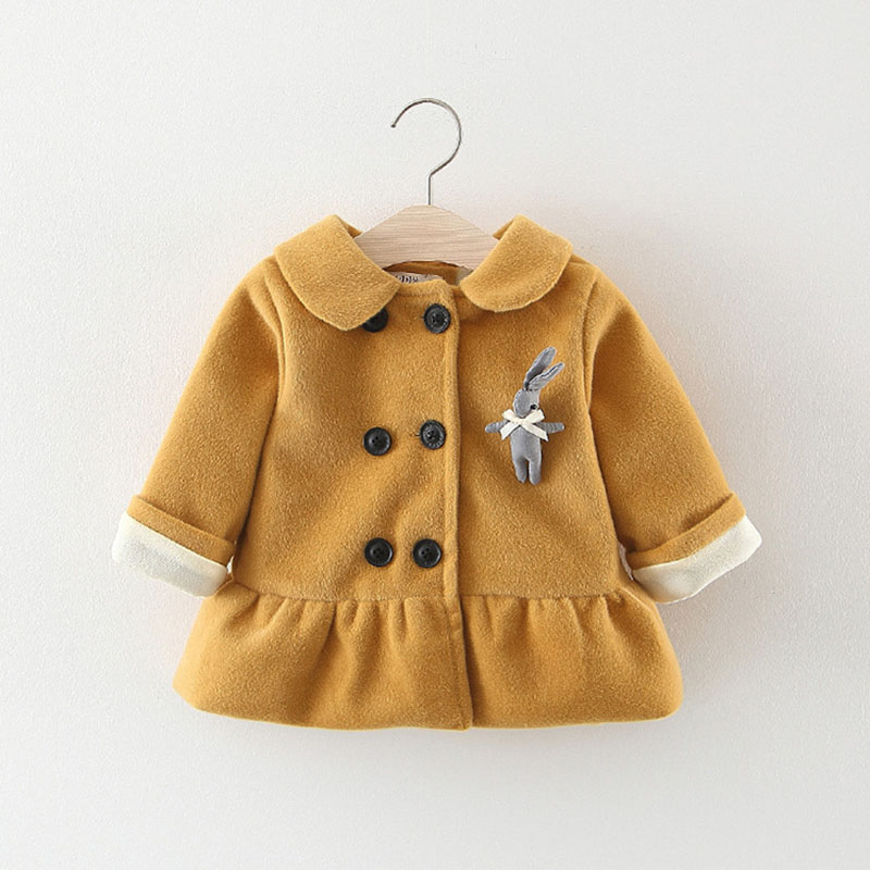 baby girls coats autumn winter infant children warm cartoon cardigan outerwear cotton velvet clothing jackets 0-3 year(China)