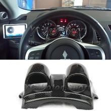 Автомобильные аксессуары из углеродного волокна 52 мм/60 мм Рулевое устройство Whell двойной блок калибровки подходит для 2008-2012 Evolution X EVO 10 двойной измерительный прибор Pod