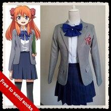 GANGAN ONLINE anime ropa Chiyo Sakura cosplay más tamaño chica japonesa uniforme escolar falda Enviar calcetines y Sombreros