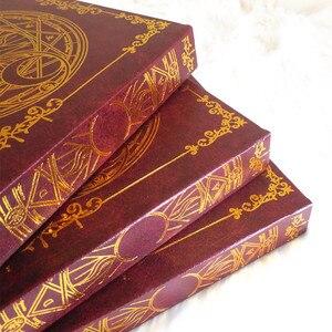 Image 5 - 2 цвета, аниме карта Captor Sakura, экшн фигурка, магический массив, с принтом, волшебный блокнот, дневник, книга, канцелярский журнал, записная книжка