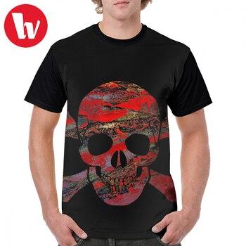 Camiseta Homme Tete De Mort Crane Humain De Panthere Luxe