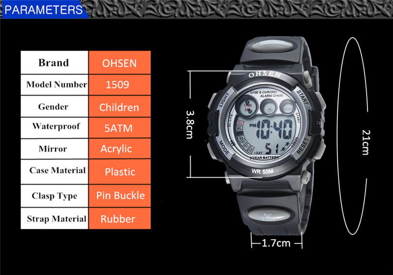 OHSEN Fashion Children Sports Watches Waterproof 5ATM Kids LED Digital Watch Student Outdoor Hand Electronic Clock Montre Femme (39)