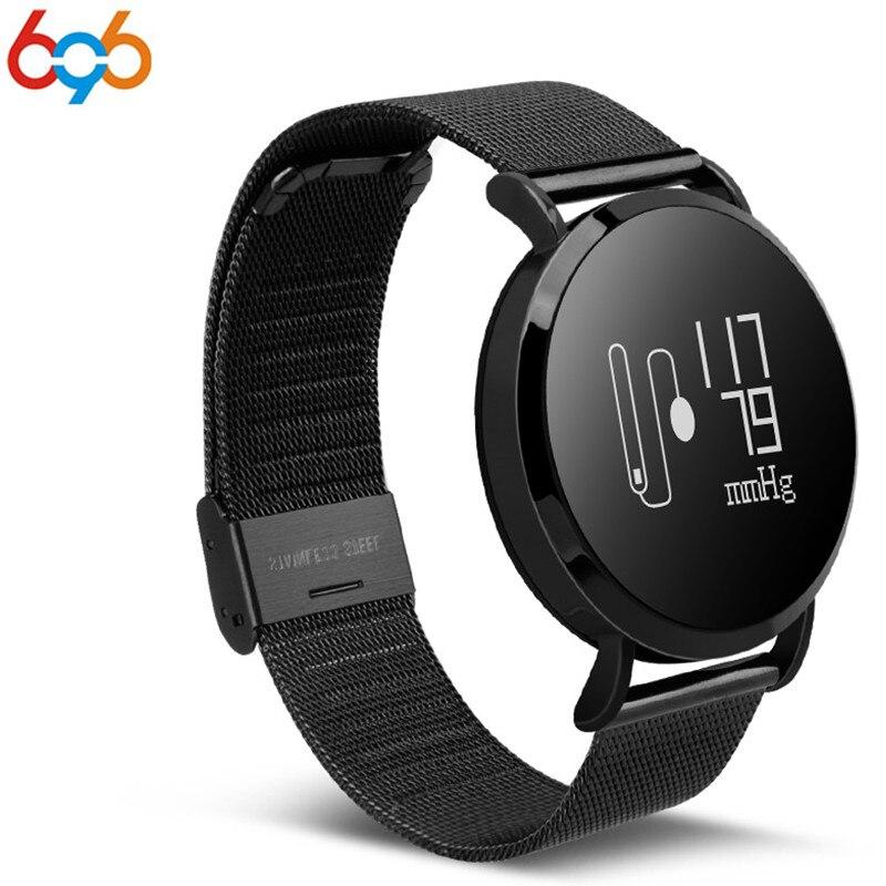696 CV08 IP67 digital impermeable smart watch con frecuencia cardíaca/presión arterial/0,95 pantalla OLED digital hombres reloj del metal