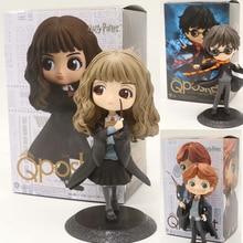 QPosket película lindo Harry Potter Ron Weasley Hermione Granger Draco Malfoy figura de acción de juguete muñeca de regalo de Navidad