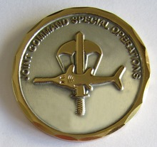 Promotion stamping zinc alloy metal challenge coin badge