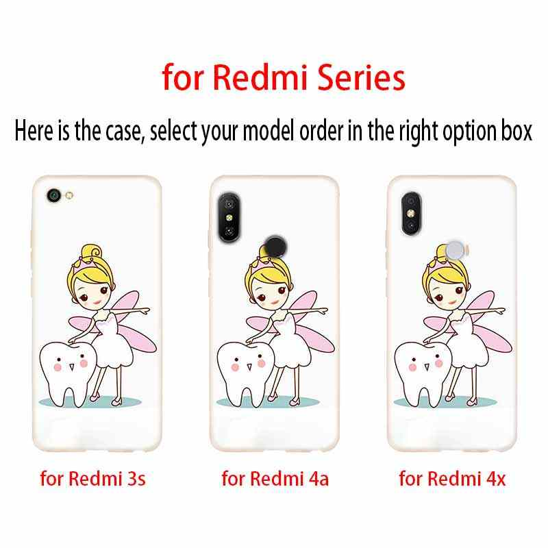 כיסוי רך סיליקון TPU מקרה עבור Xiaomi Redmi 3 4X 4a 5 בתוספת 5a S2 6a 6 פרו הערה 5 6 4 3 5a שיניים שתל רופא שיניים שיניים שיניים
