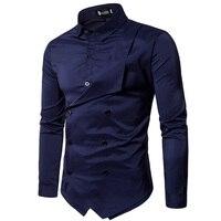 Men Shirt 2018 Spring New Brand Men S Slim Fit Dress Shirt Male Long Sleeves Fake