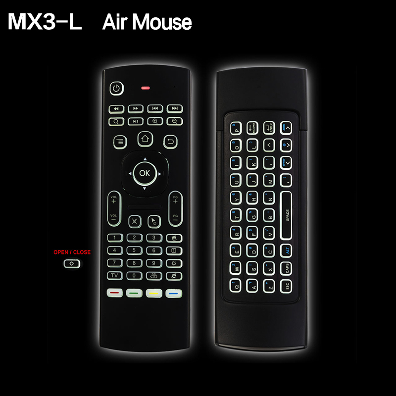 MX3-L MX3 Fly Air Mouse Backlight optional Wireless Keyboard 2.4G IR Learning for Androi ...