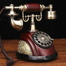 Американский стиль Античный Телефон с поворотным диском/модный винтажный бытовой телефон