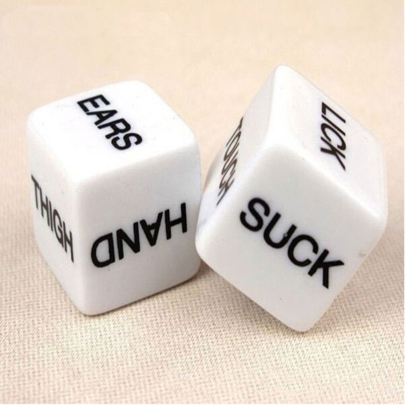 2 PCS Funny Sex Dice Toy Romance Love Humour Party Gambling Adult Games Sex Toys Erotic Craps Pipe For Couples SM BDSM Sex Games