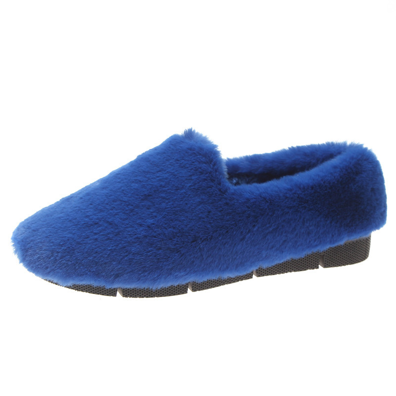 Image 4 - SWYIVY Fur Loafers Ladies Winter Warm Casual Shoe Slip Ons 2019 Ballerinas Shoes For Women Flat Shoes Loafer Women Shoe Flat-in Women's Flats from Shoes