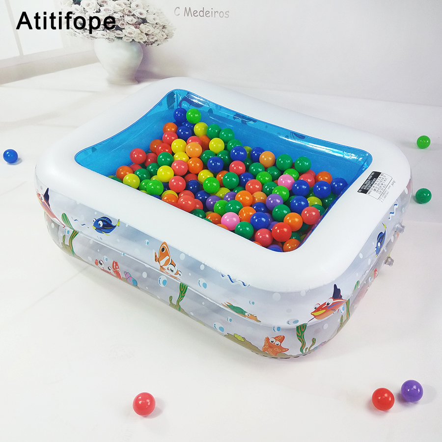 Two layers ball pit heightening and thickening plastic material Play Pool Childrens inflatable pool Swimming for Kids