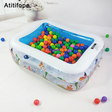 купить Two layers ball pit heightening and thickening plastic material Play Pool Children's inflatable pool Swimming Pool for Kids онлайн