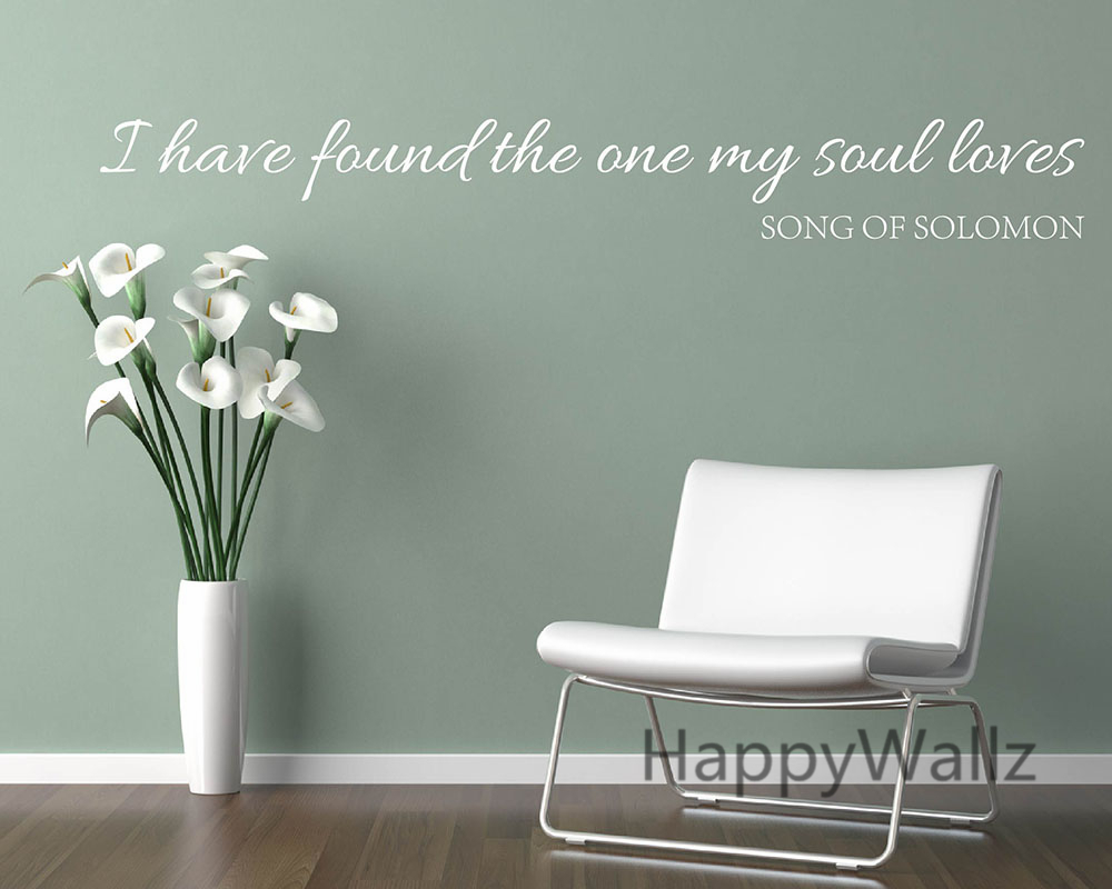 I have found the one my soul loves love quotes wall stickers i have found the one my soul loves love quotes wall stickers decorative diy lovers love lettering quote wall art decals q138 in wall stickers from home amipublicfo Choice Image