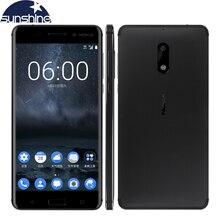 "2017 Ori G инал Nokia 6 4 г LTE мобильный телефон Android 7.0 Octa Core 5.5 ""16.0 Мп 4 г Оперативная память 32 г/64 г Встроенная память Dual SIM fin G erprint смартфон"