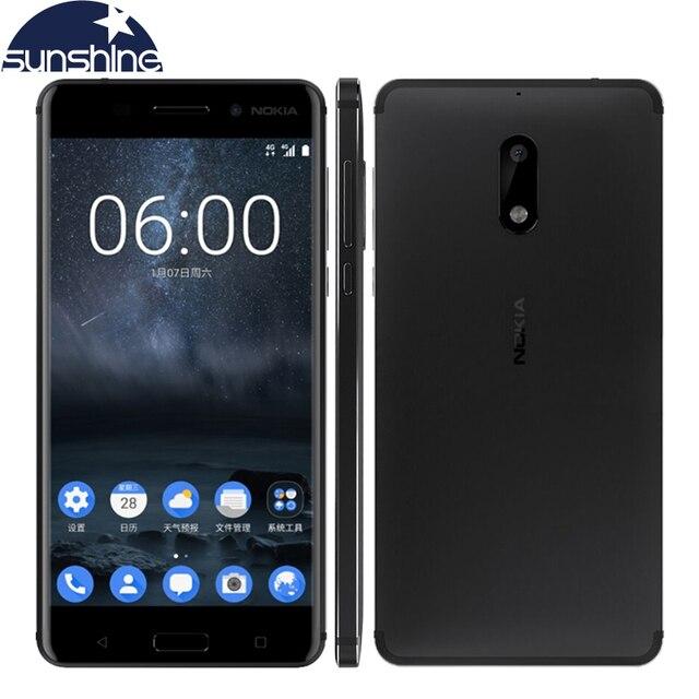 "2017 Original Nokia 6 4G LTE Mobile Phone Android 7.0 Octa Core 5.5"" 16.0 MP 4G RAM 32G/64G ROM Dual Sim Fingerprint Smartphone"