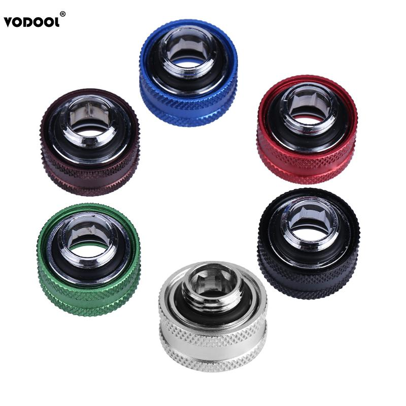1pc Water Cooling G1/4 Thread Rigid Tube 14mm Hard Tube Extender Connetor Fittings for PC Computer Water Cooling System 6 Colors tube size 14mm 1 4 pt thread pneumatic
