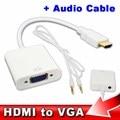 HDMI Мужчины к VGA Женский HDMI к VGA Видео Аудио Конвертер Адаптер кабели HDMI к VGA Кабель HD 1080 P для Портативных ПК Xbox 360