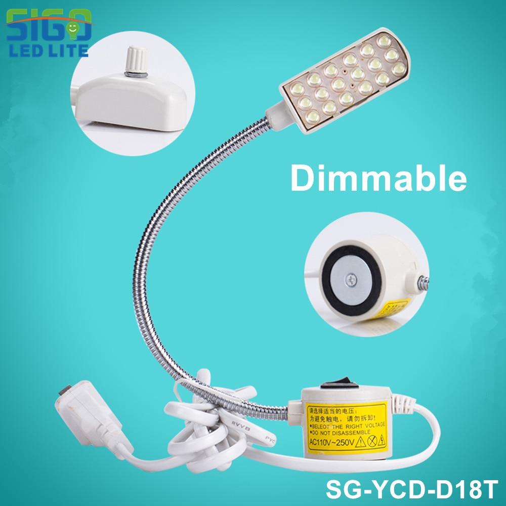 Ücretsiz Shipping-D18T-1.5W DIMMABALE LED Dikiş Makinesi Lambası, Endüstriyel Dikiş ışıkları, Çalışma Masası Masası Aydınlatma