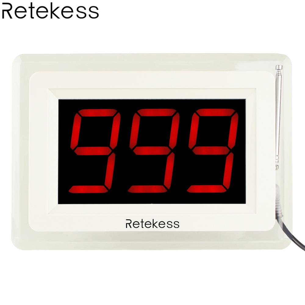 Retekess T114 Wireless Calling Receiver Host Call Pager System with Voice Reporting for Restaurant Waiter Nurse