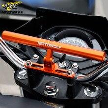 MOTOWOLF универсальный мотоцикл/скутер/спорт-Байк/цикл усиленная перекладина мотора телефон/gps/прожектор/фары монтажный кронштейн