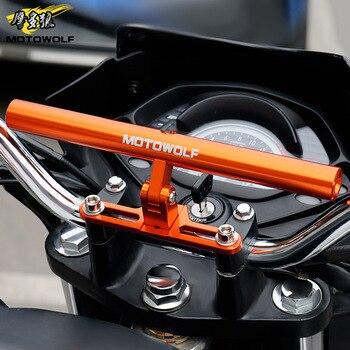 MOTOWOLF Универсальный мотоцикл/скутер/спорт-велосипед/цикл усиленный перекладина мотор телефон/GPS/прожектор/фары монтажный кронштейн