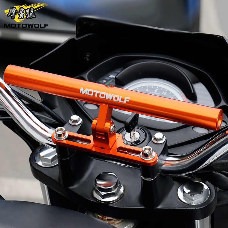 MOTOWOLF Universal Motorcycle/Scooter/Sport-bike/Cycle Reinforced Crossbar Motor Phone/GPS/Spotlight/Headlights Mounting Bracket