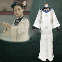 Wu JinYan Wei Ying Luo Same Design Qing Dynasty Palace Maid Costume Hanfu for TV Play Story of YanXi Palace