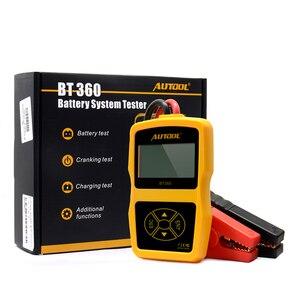 Image 3 - Автомобильный тестер аккумуляторов AUTOOL BT360 12 В, цифровой тестер для затопленного геля, 12 В, анализатор для автомобильных аккумуляторов, многоязычный