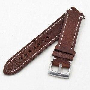 Image 3 - Ремешок из натуральной кожи для наручных часов, черный темно коричневый сменный Браслет для фирменных часов, 18 19 20 21 22 23 мм
