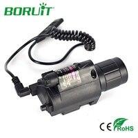 LED Tactical Gun Flashlight 1 Mode 600LM Red Laser Pistol Handgun Torch Light Lamp Taschenlampe