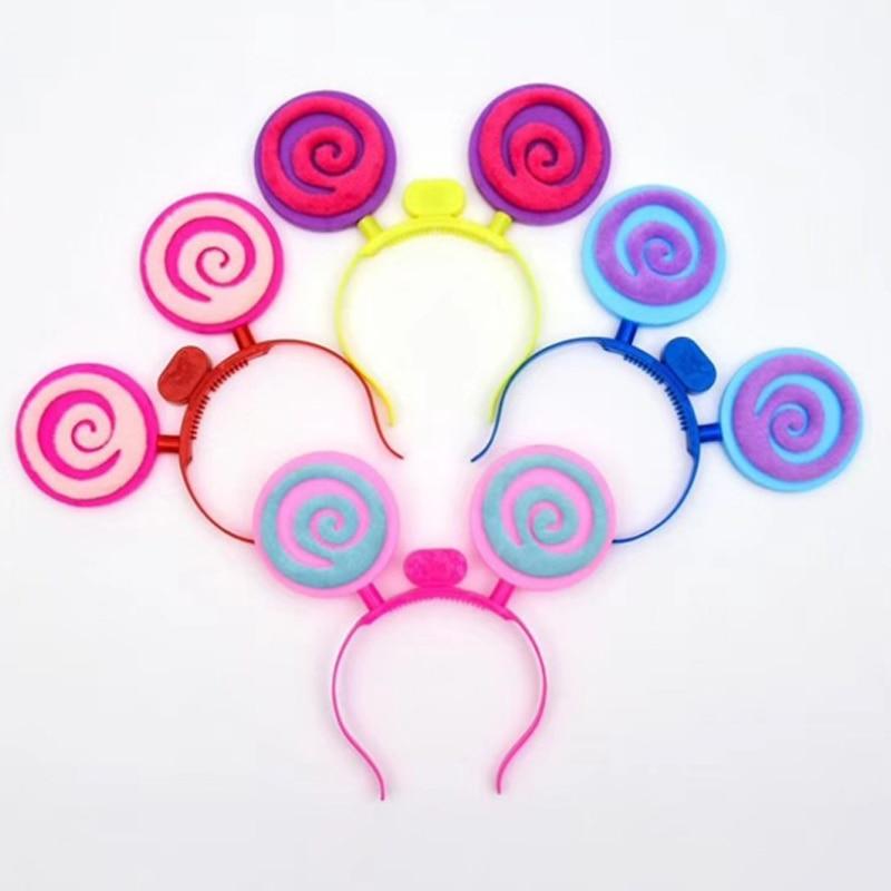 Christmas Halloween LEDFlashingGlow Headband Women Girls Lollipop Light Up Hairbands Hair Accessories Glow Party Supplies (5)