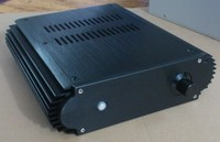 DIY AMP 284 80 308mm BZ2208 Black Mini All Aluminum Amplifier Chassis Class A Amplifier Case