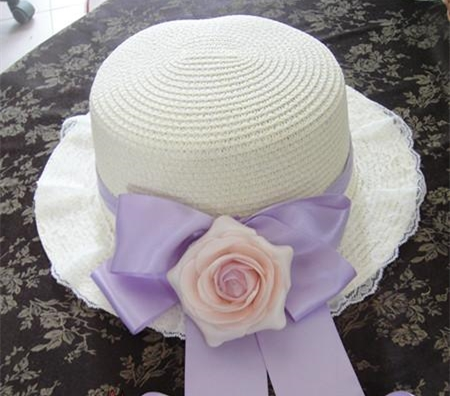 כפרי נסיכה מתוקה לוליטה יפני ילדה סגול עלה מכרז רך ונקי כובע קש כובע רשמי MSG MZ011