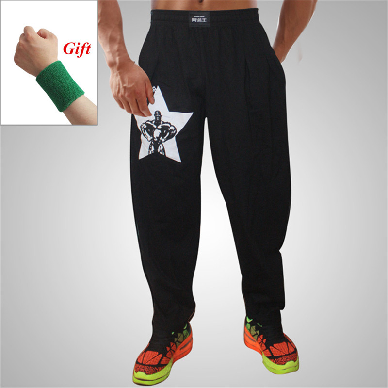 Men Bodybuilding Baggy Pants High Elastic Cotton Gym Clothing Fitness pants Loose Comfortable Crossfit Musculation Sweatpants(China)