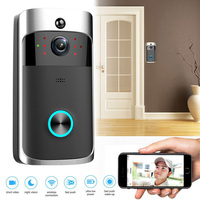Wireless WiFi Door Bell Smart Video Phone Door Visual Ring Intercom Camera Safety System LCC77