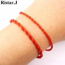 10 шт/лот счастливый красный браслет со шнурком для влюбленных